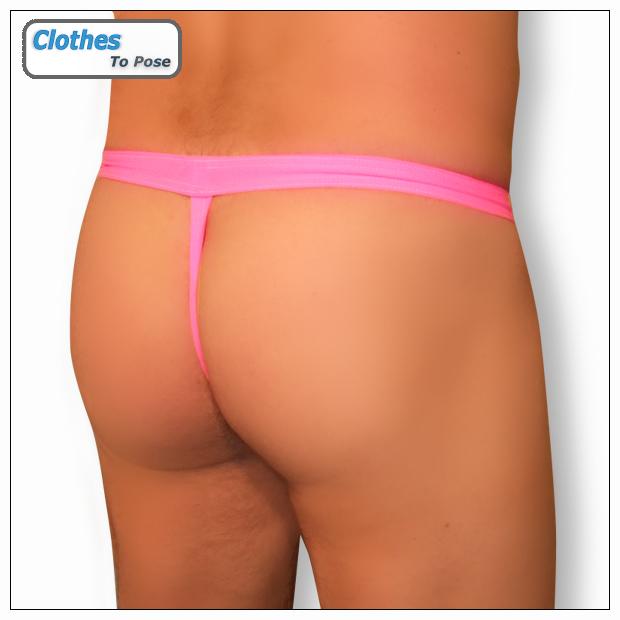 138e93195c934 Mens G String - Hot Pink - Black Mesh